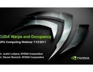CUDA Warps and Occupancy