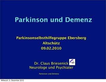 Parkinson und Demenz (9.2.2010)