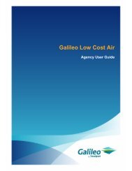 Galileo Low Cost Air User Guide - Travelport Support