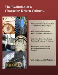 The Evolution of a Culture - Future Achievement International