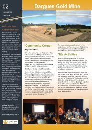 DGM Monthly Newsletter 02 - June 2013 - Majors Creek