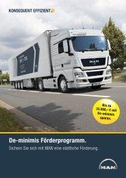 De-minimis Förderprogramm. - MAN Truck & Bus Deutschland