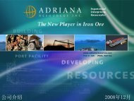 公司介绍 - Adriana Resources Inc.