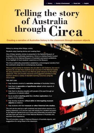 Telling the story of Australia through Circa (PDF 3.1 MB) - National ...