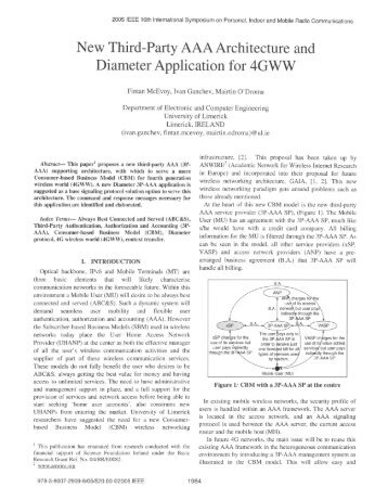 New Third-Party AAA Architecture and Diameter Application for 4GWW