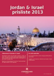 Jordan & Israel prisliste 2013 - Stjernegaard Rejser