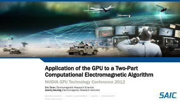 Application of GPU to 2-Part Computational Electromagnetic Algorithm