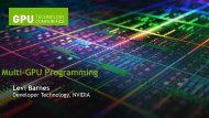 Move to multiple GPUs - GPU Technology Conference