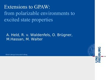 Extensions to GPAW