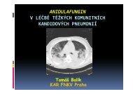 anidulafungin v léčbě těžkých komunitních kandidových pneumonií