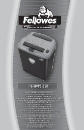 PS60 Manual - Fellowes