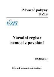 Národní registr nemocí z povolání (verze 905-20060101) - ÚZIS ČR