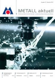 Metall aktuell 12/2012 - IS & R GmbH: Investment Strategy & Research