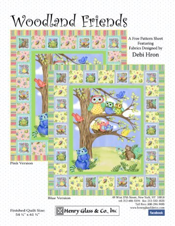 Woodland Friends FREE Pattern from Henry Glass!!