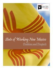 Problems & Prospects - New Mexico Voices for Children
