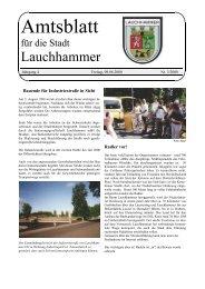Agenda 21 aktiv- global denken, lokal handeln - Stadt Lauchhammer