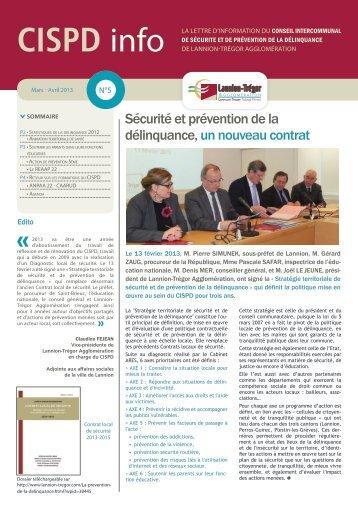 Lettre n°5 - Mars- avril 2013 - Lannion-Trégor Agglomération