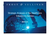 Strategic Analysis of the Healthcare Industry in Zambia - Growth ...