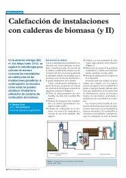 Calefacción de instalaciones con calderas de biomasa (y II)