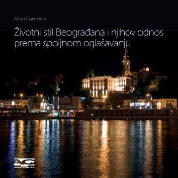 Životni stil Beograđana i njihov odnos prema spoljnom oglašavanju