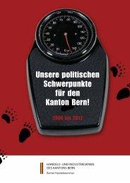 Unsere politischen Schwerpunkte für den Kanton Bern!