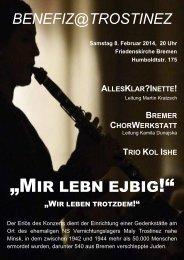 Konzertflyer mit Programm - KreisChorVerband Bremen