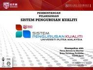 Sistem Pengurusan Kualiti FS - UPM - Universiti Putra Malaysia