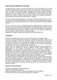 Inquadramento urbanistico - Relazione - Urban Center - Comune di ...