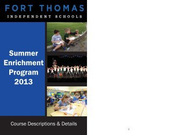 Booklet 2013.indd - Fort Thomas Independent Schools