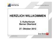Präsentation - Volkswirtschaft Berner Oberland