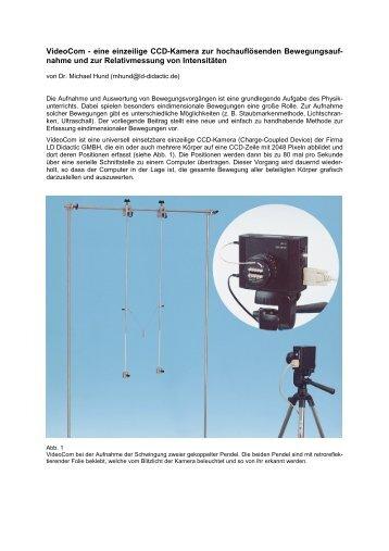 VideoCom - eine einzeilige CCD-Kamera zur ... - LD-Didactic