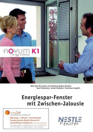 Energiespar-Fenster mit Zwischen-Jalousie - HOLZWEG.CH