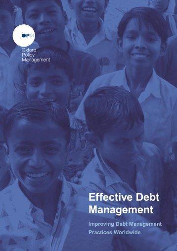 Effective Debt Management Brochure - Oxford Policy Management