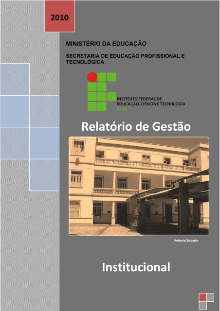 Relatório de Gestão Institucional - IFBA