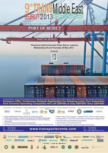 Conference Delegate Registration for Shipping Lines; Port ...