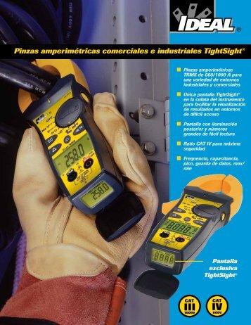 Pinzas amperimétricas comerciales e industriales TightSight®
