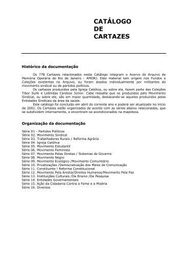 CATÁLOGO DE CARTAZES - IFCS - UFRJ