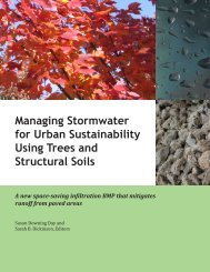 Managing Stormwater for Urban Sustainability Using Trees and ...