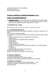 TECNICHE per le ENERGIE RINN - Dipartimento di Tecnologie dell ...