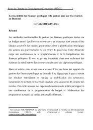 La traçabilité des finances publiques et la gestion ... - Idecburundi.org