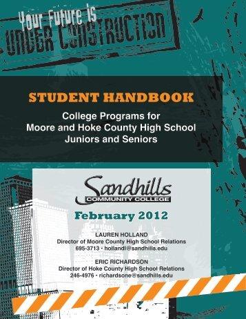 Student Handbook - Sandhills Community College
