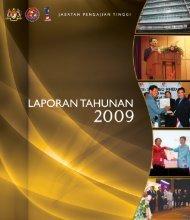 laporan tahunan 2009 - Jabatan Pengajian Tinggi - Kementerian ...