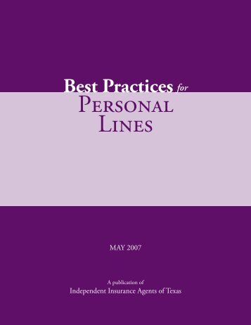 Best Practices for Personal Lines - Independent Insurance Agents of ...