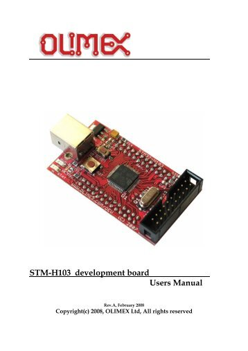 STM32-H103 development board for Cortex M3 ARM microcontrollers