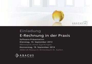 Einladung und ausführliches Programm - ABACUS Research AG