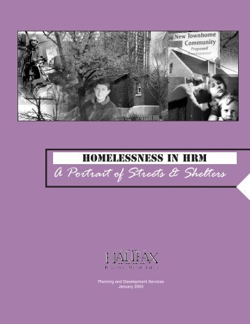 Homelessness in HRM: Portrait of Streets and Shelters - Halifax ...