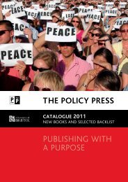 catalogue 2011 - Policy Press