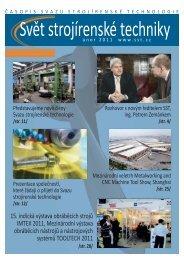 Svět strojírenské techniky číslo 1/2011 - Svaz strojírenské technologie