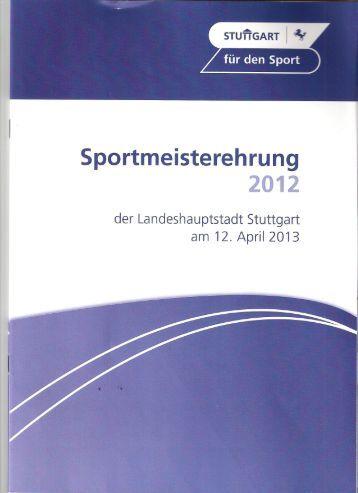 Stuttgarter Sportmeisterehrung 2012 - VC Stuttgart