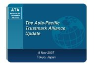 The Asia-Pacific Trustmark Alliance Update - Global Business ...